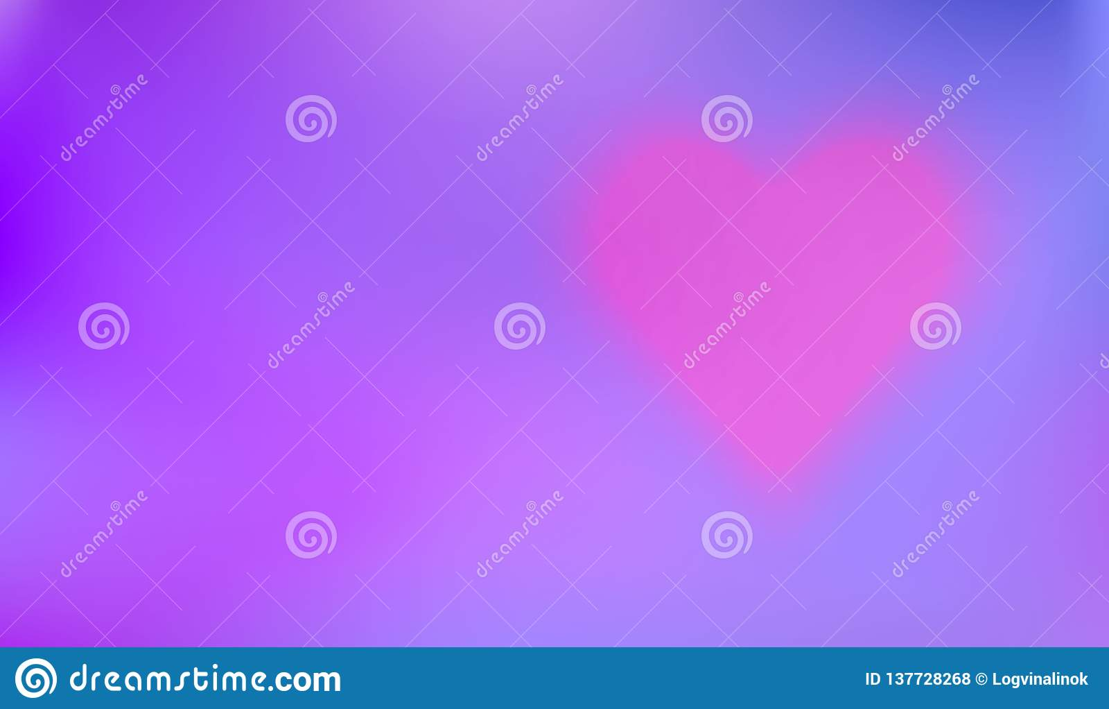 Le fond sensible avec le coeur aidera à créer une carte ou un Valentine romantique