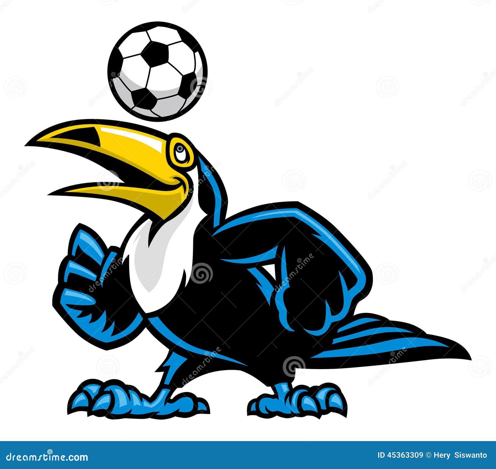 Le football de jeu d oiseau de toucan