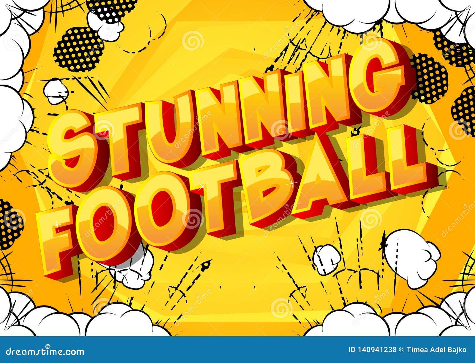 Le football de stupéfaction - mots de style de bande dessinée