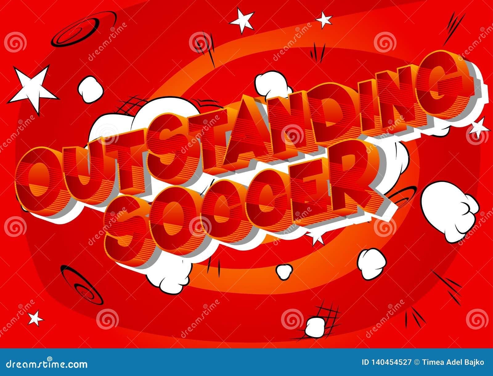Le football exceptionnel - mots de style de bande dessinée