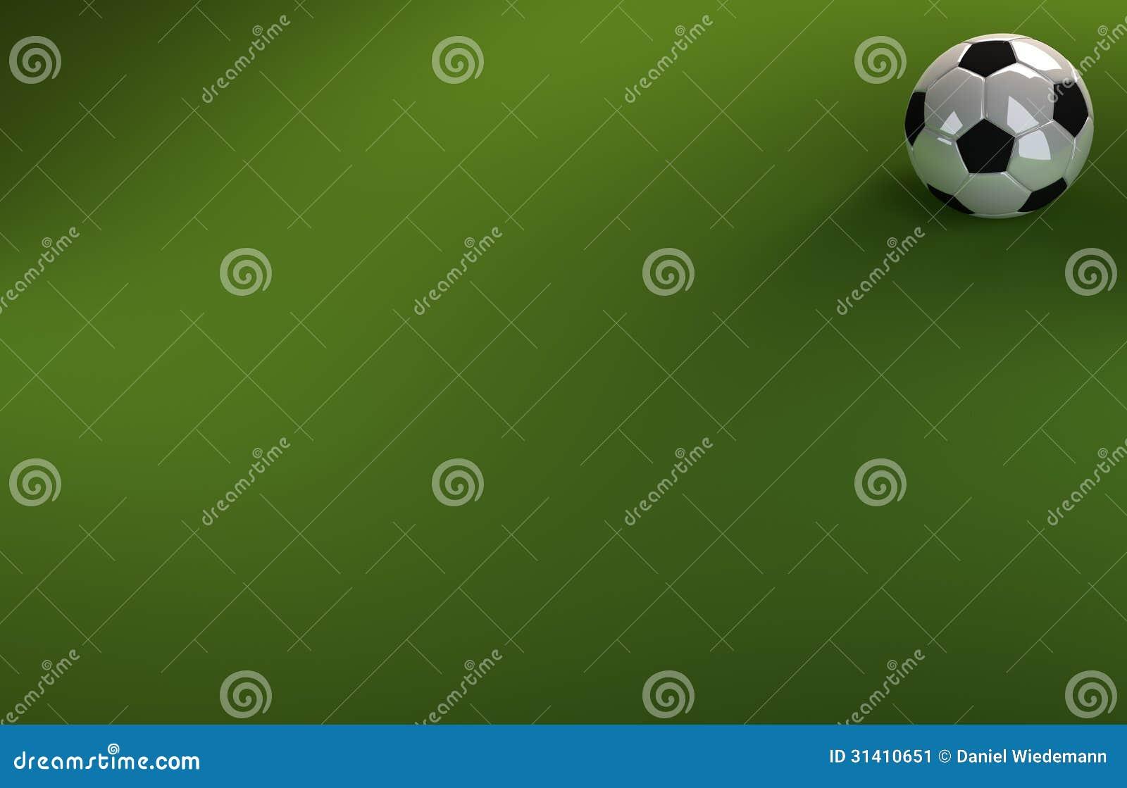 Le football sur le fond vert