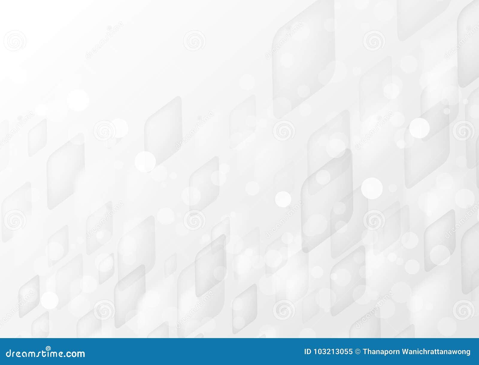Le forme geometriche di prospettiva bianca astratta si sovrappongono sul fondo grigio di pendenza