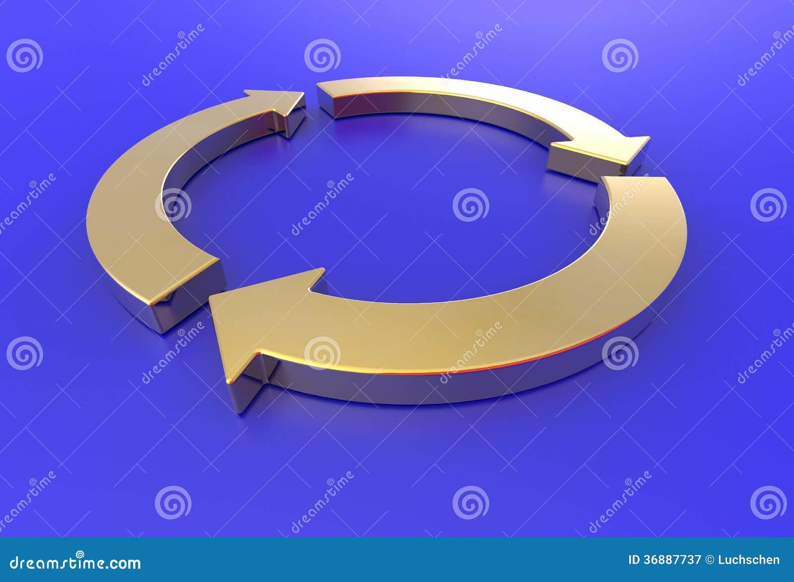 Download Le Frecce Dell'oro Riciclano Illustrazione di Stock - Illustrazione di ricicli, vita: 36887737