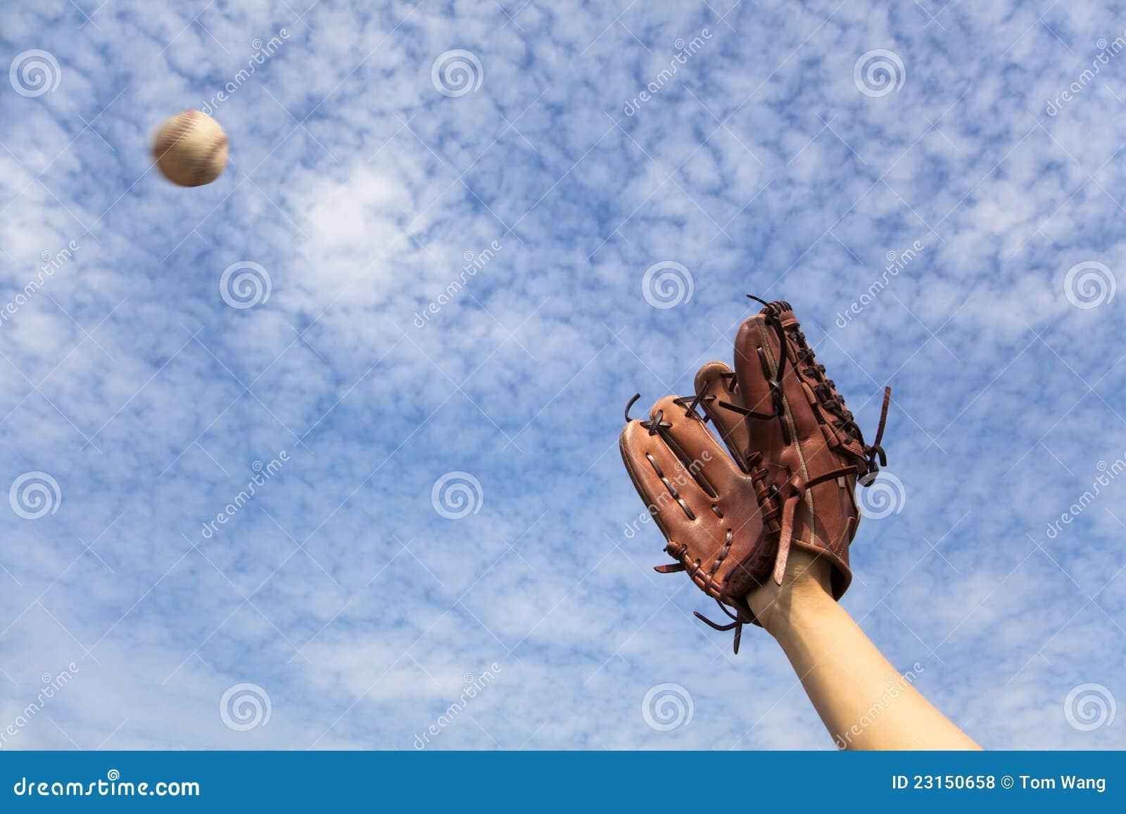 Le gant de base-ball et préparent à attraper