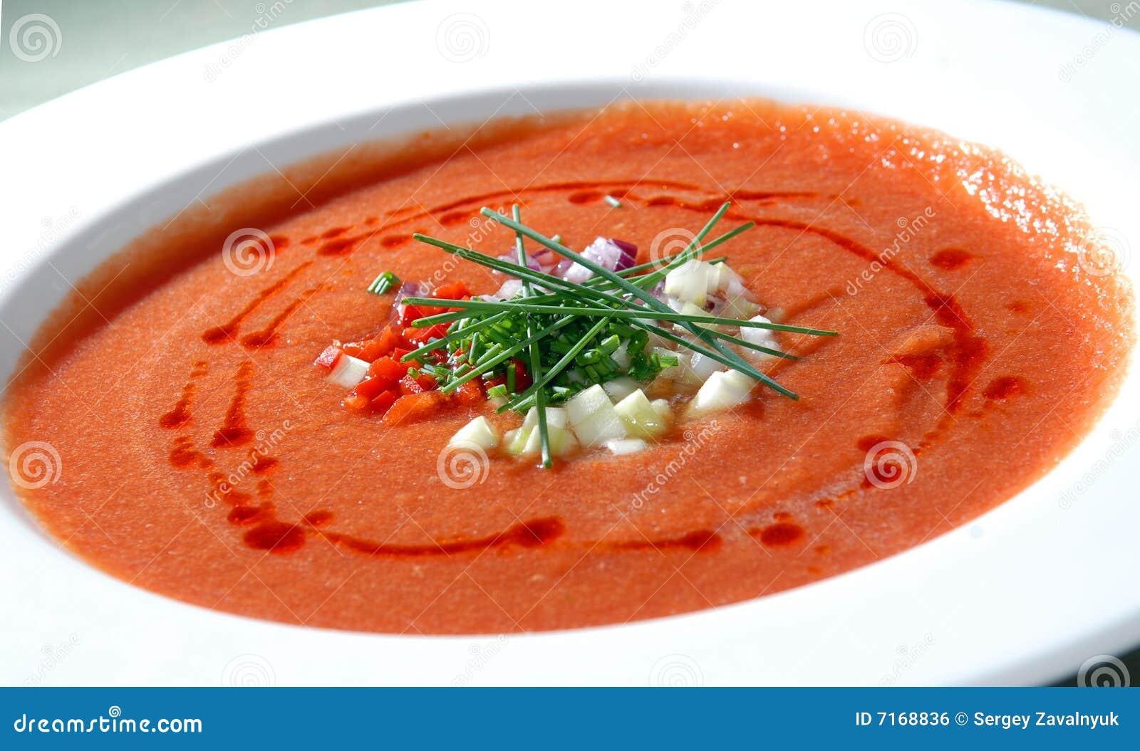 le gaspacho espagnol de potage de tomate image libre de droits image 7168836. Black Bedroom Furniture Sets. Home Design Ideas