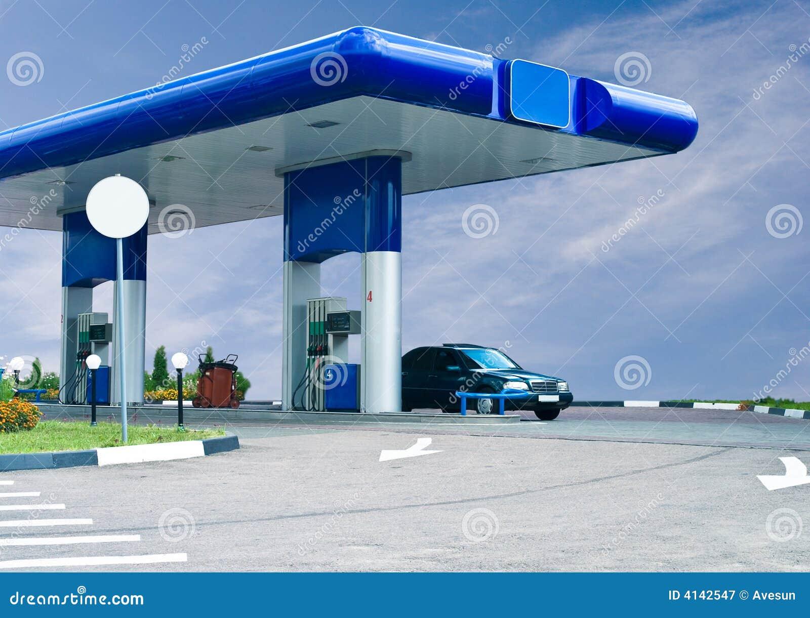 Le gaz réapprovisionnent en combustible la gare
