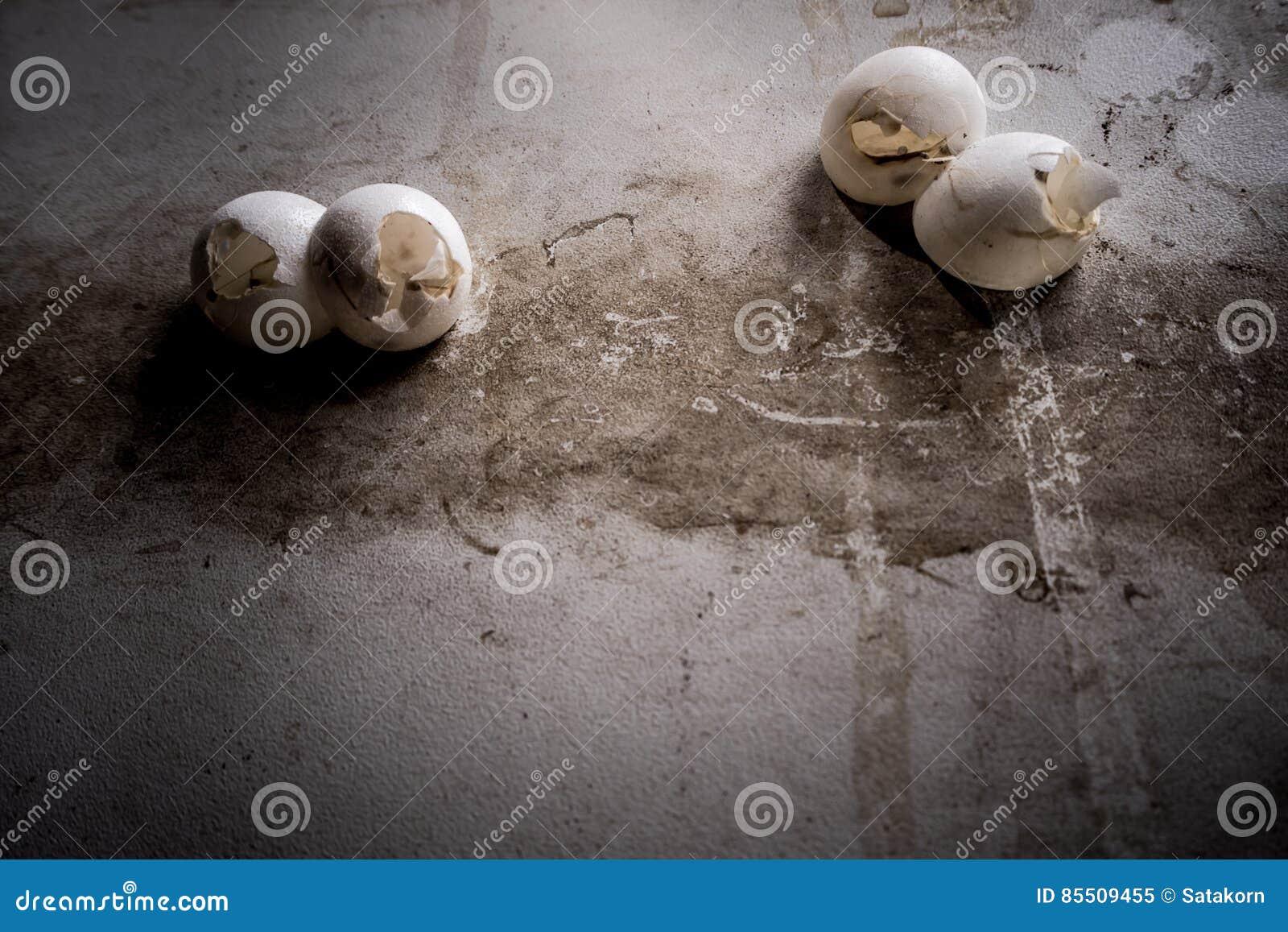 Le gecko eggs le bâton sur le mur