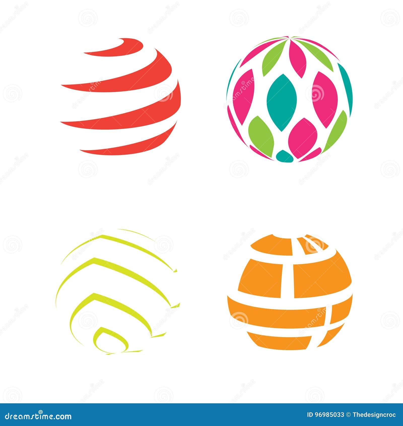 En haut Le Globe De Sphère D'icône De Logo Forme Le Résumé Rond #SW_55
