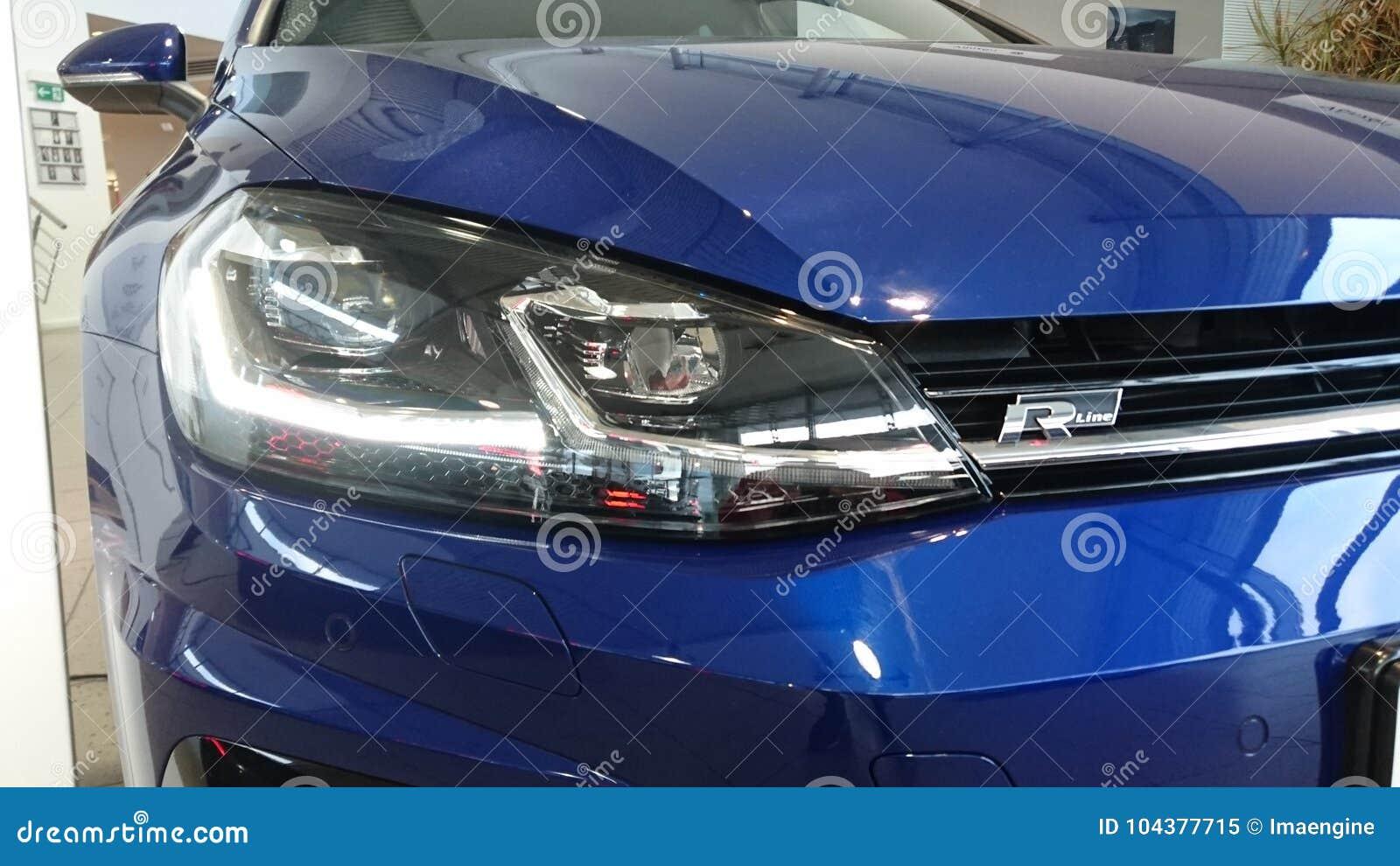 Le golf VII de VW 7 R a mené le détail léger principal