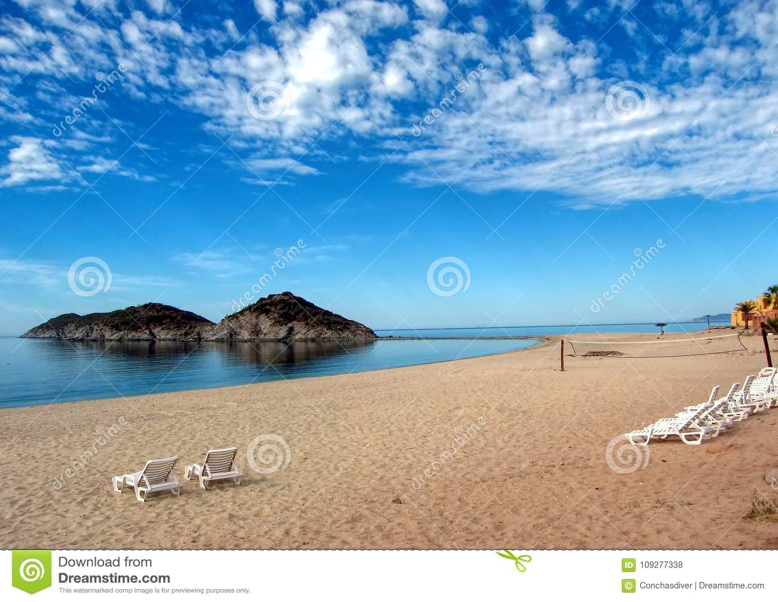 Le golfe de Californie de la plage de coton, São Carlos, Mexique