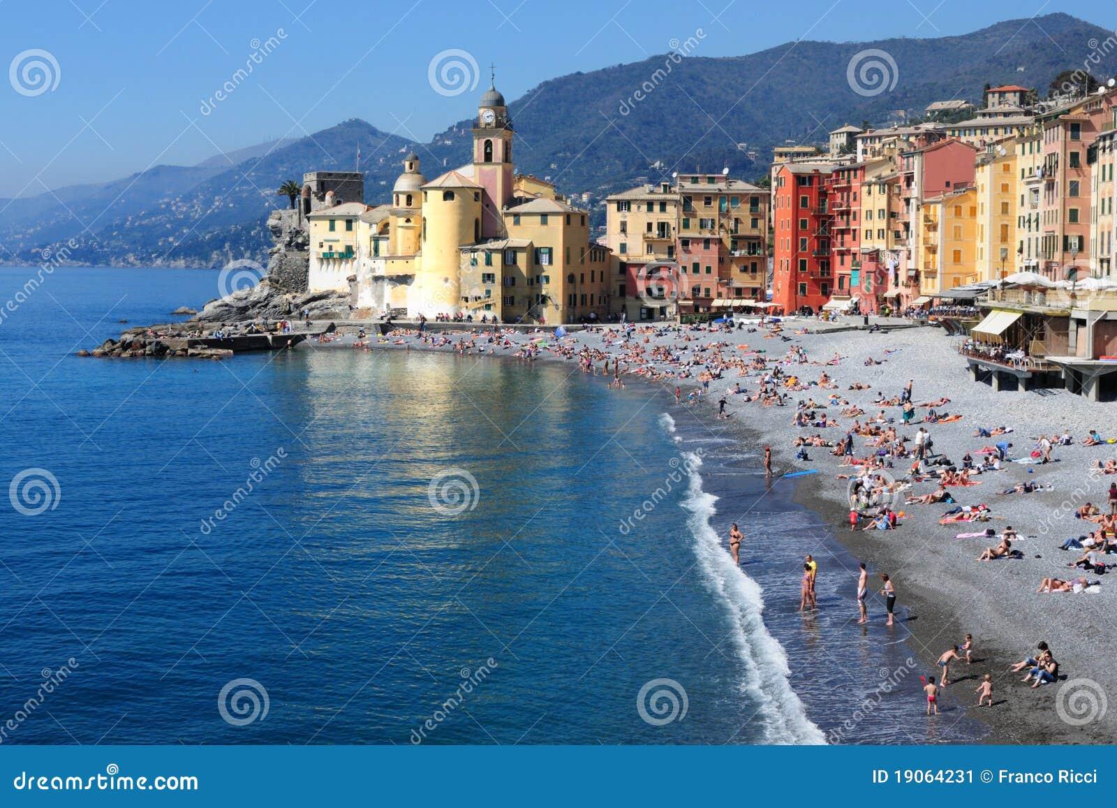 Préférence Le Golfe Et La Plage De Camogli Italie Image stock - Image: 19064231 CP95
