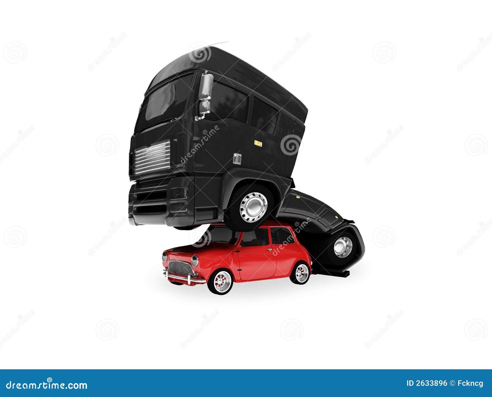 Le grand et petit véhicule ont le sexe