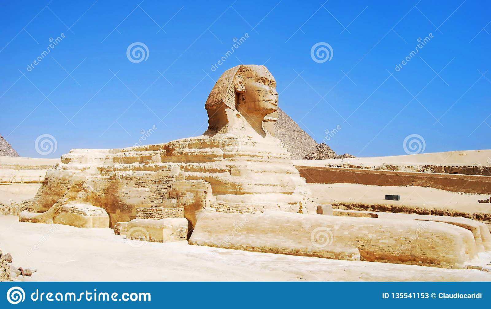 Le grand sphinx à Gizeh, Egypte