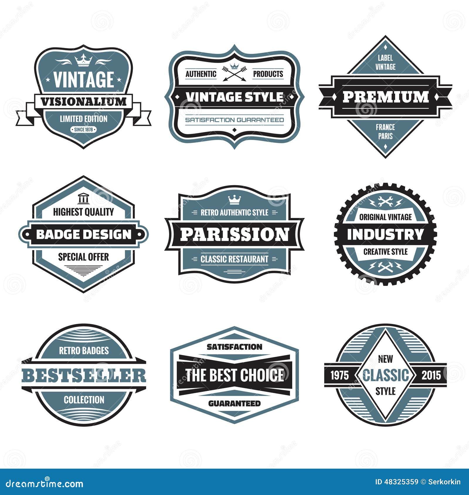 Le graphique de vecteur badges la collection Insignes originaux de vintage