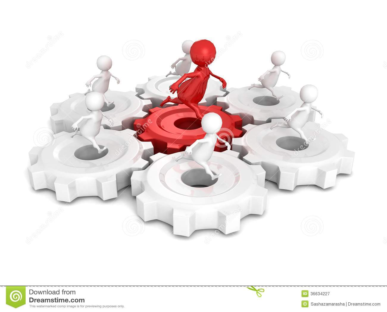 Le groupe d 39 quipe avec la course rouge d 39 homme du chef 3d for Equipo para chef