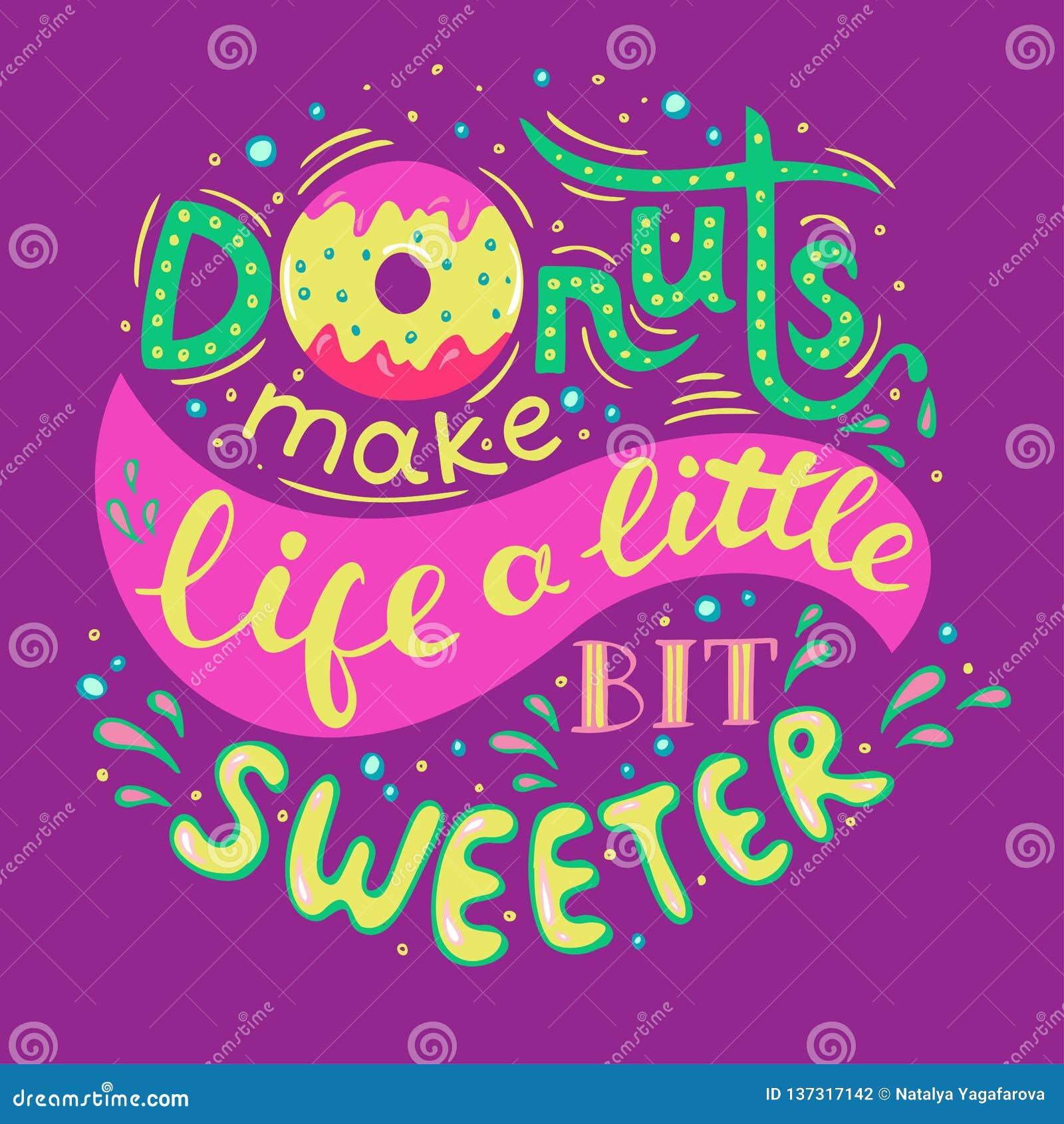 Le guarnizioni di gomma piuma rendono la vita un po più dolce Frase indicata da lettere della mano su fondo lilla