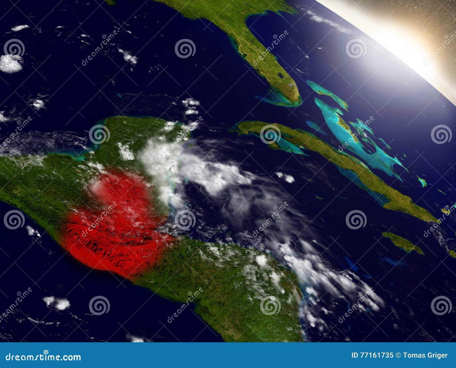 Le Guatemala de l espace accentué en rouge