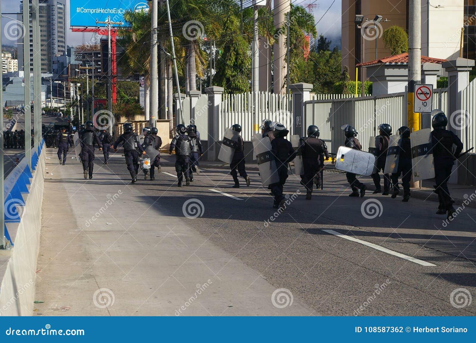 Le Honduras protestation march en janvier 2018 Tegucigalpa, Honduras 5