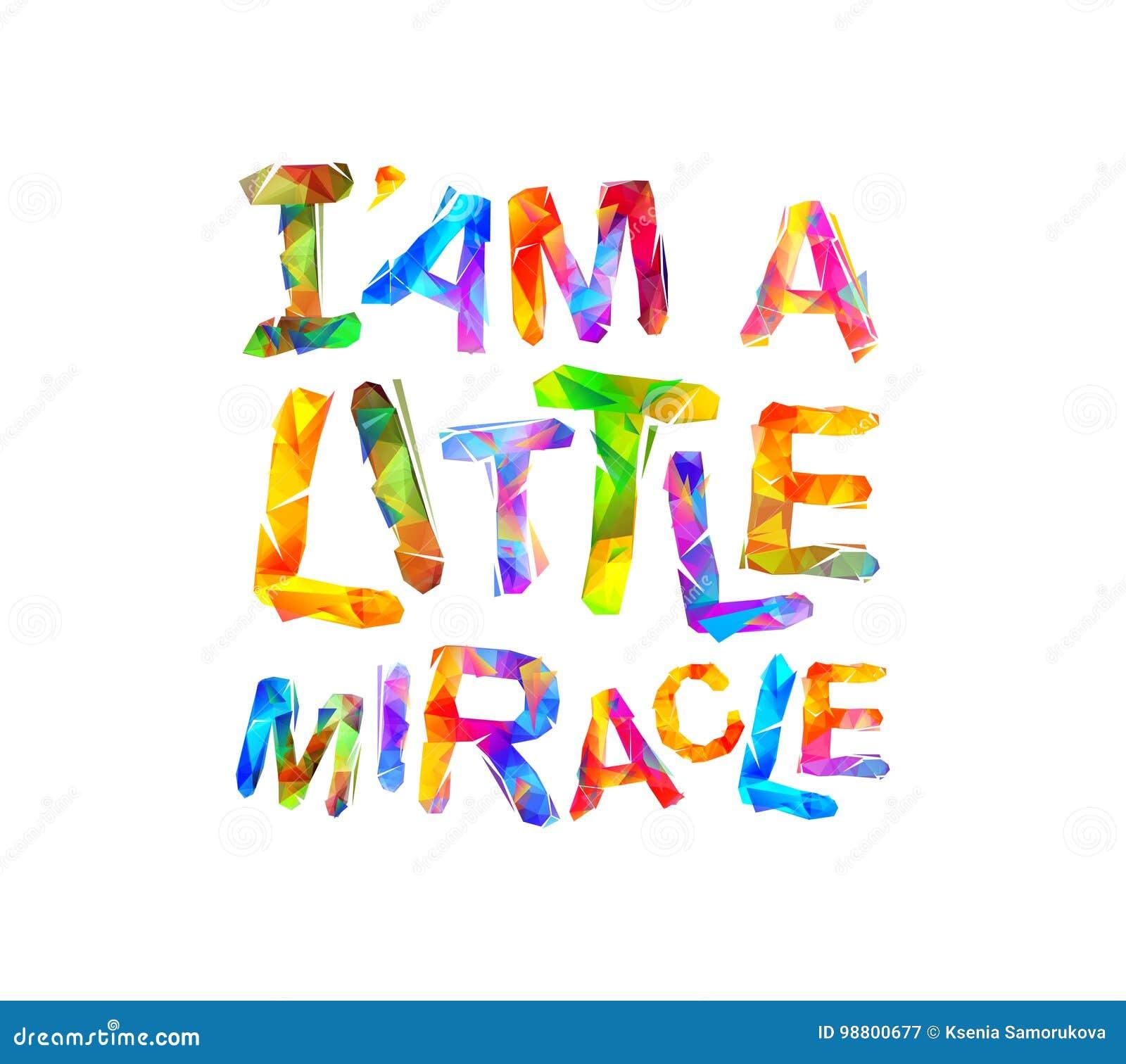 Le ` i suis un petit miracle Vecteur