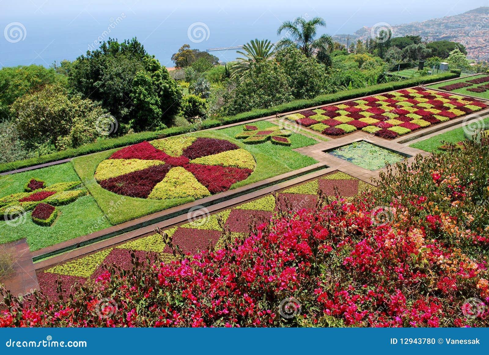 Le jardin botanique de funchal en la mad re photo stock for Jardin botanique de conception