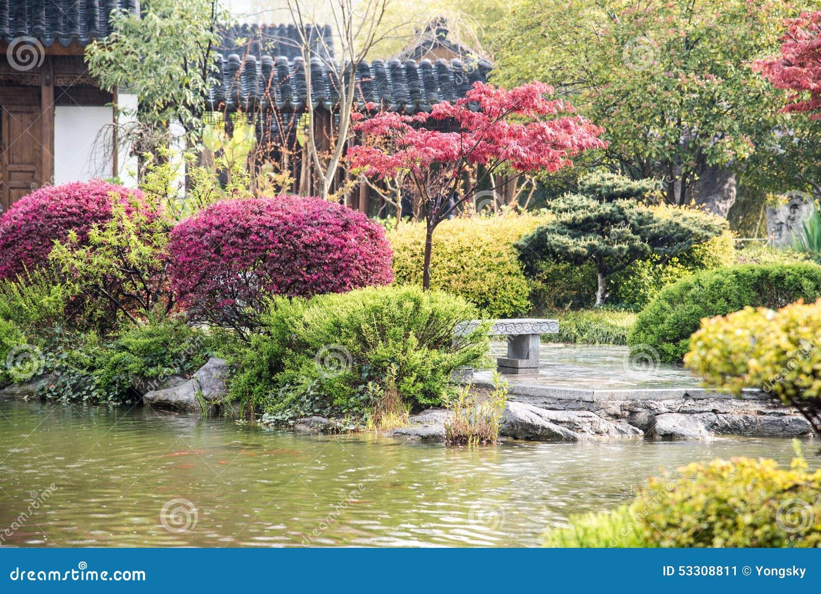 Le jardin de pluie image stock image du soie nanjing for Le jardin zoologique de berlin