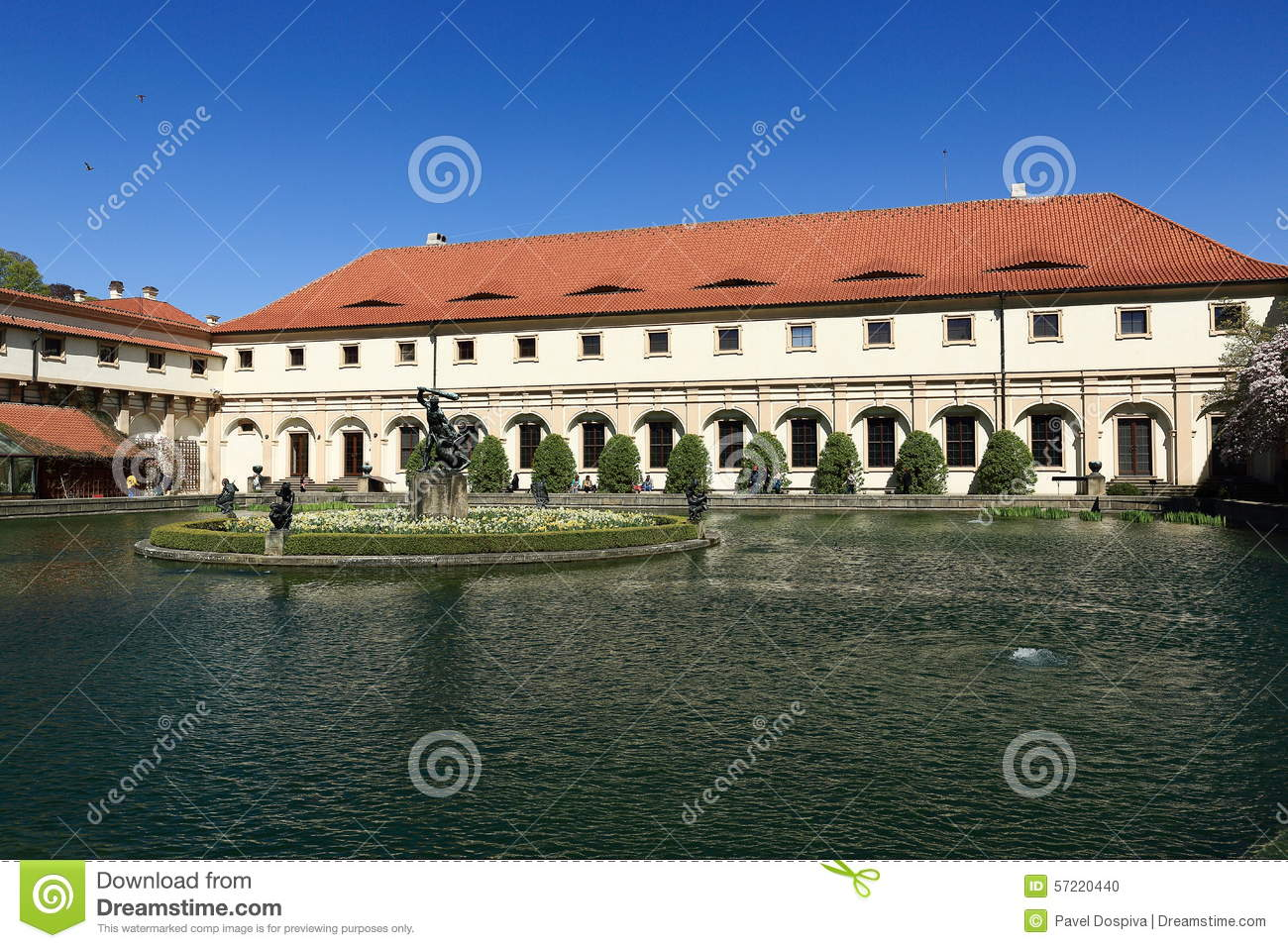 le jardin de wallenstein est situ prague du petit c t r publique tch que photo stock