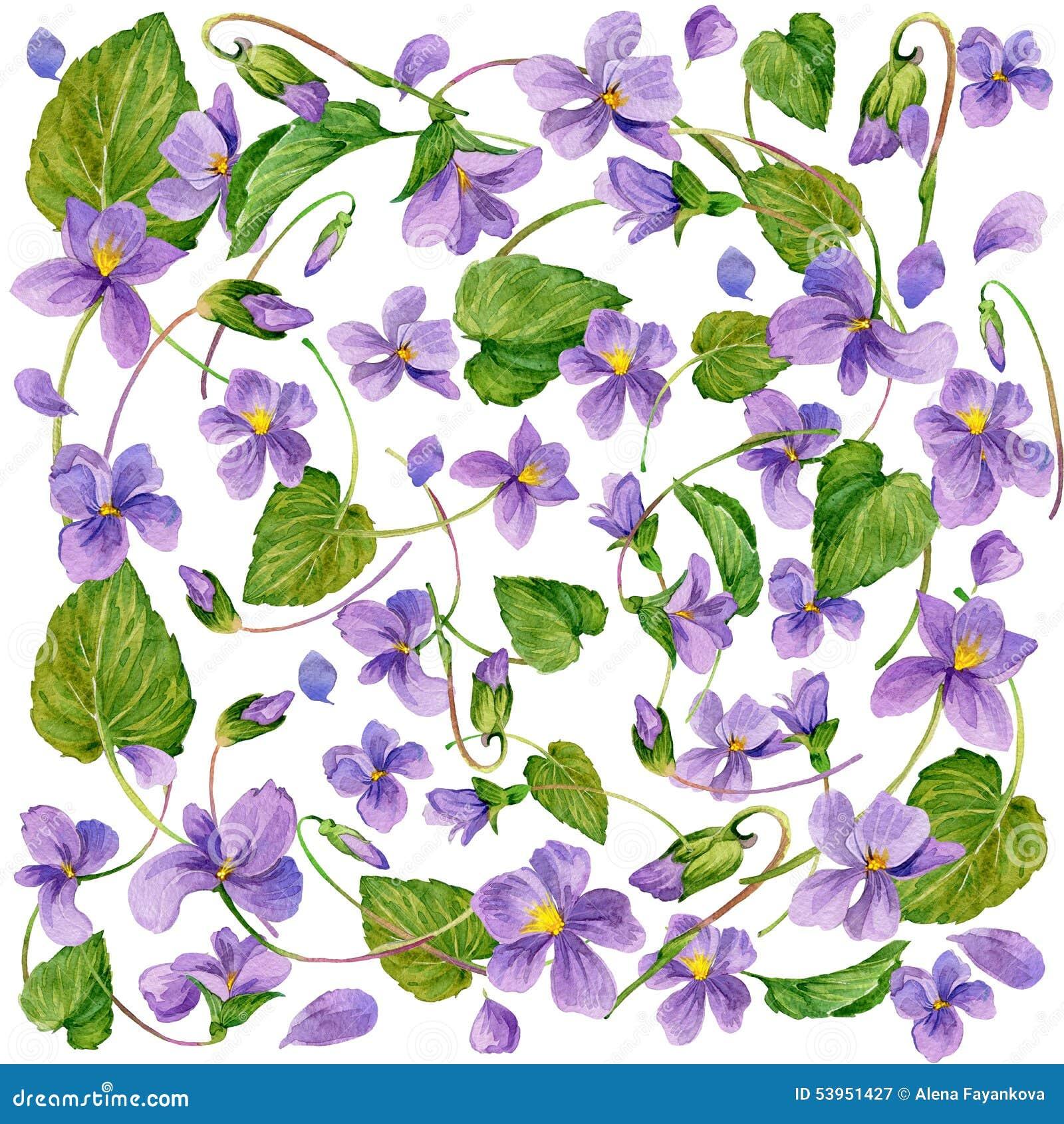 Le jardin fleurit le fond watercolor