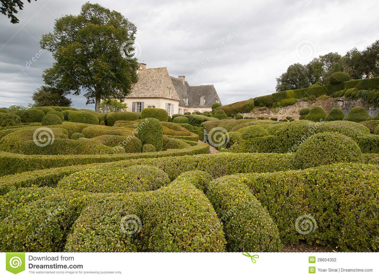Le jardin marqueyssac france stock photography image for Jardin france