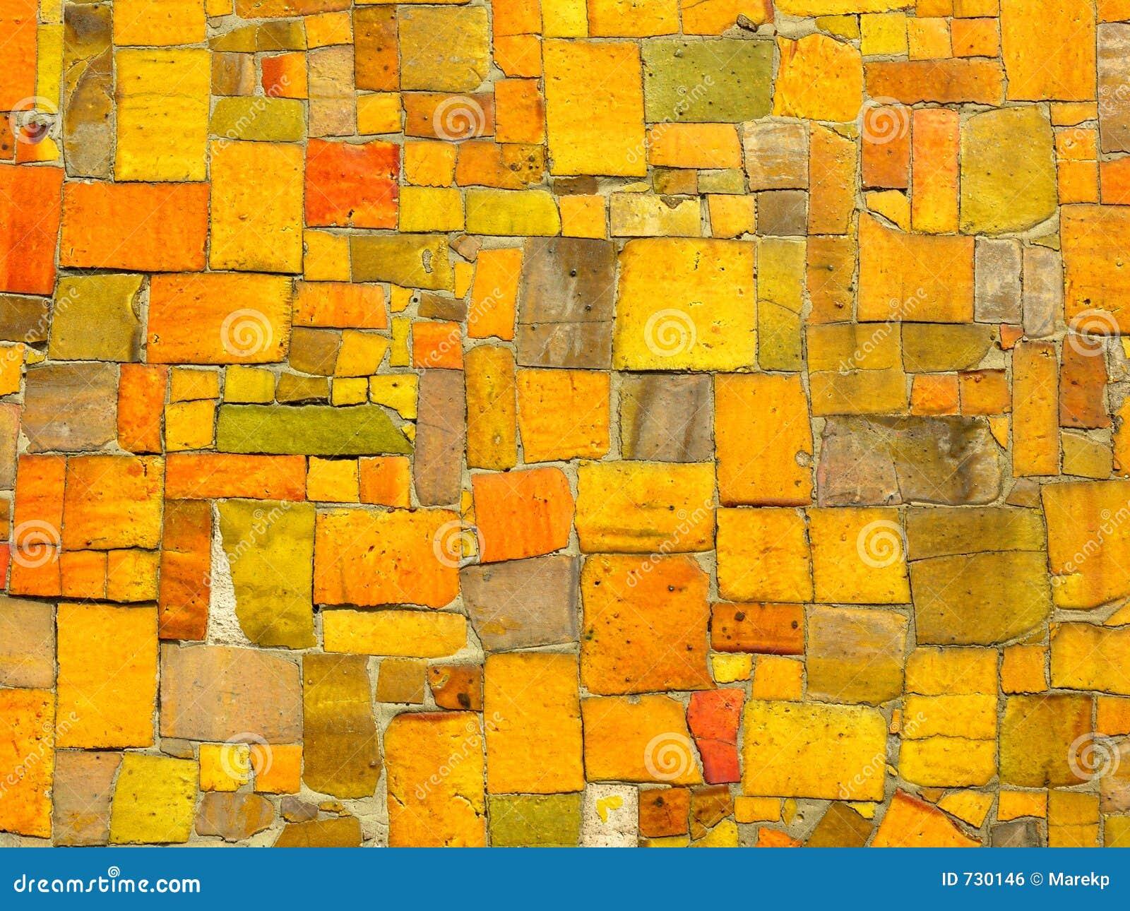 Le jaune couvre de tuiles la mosaïque - configuration faite au hasard