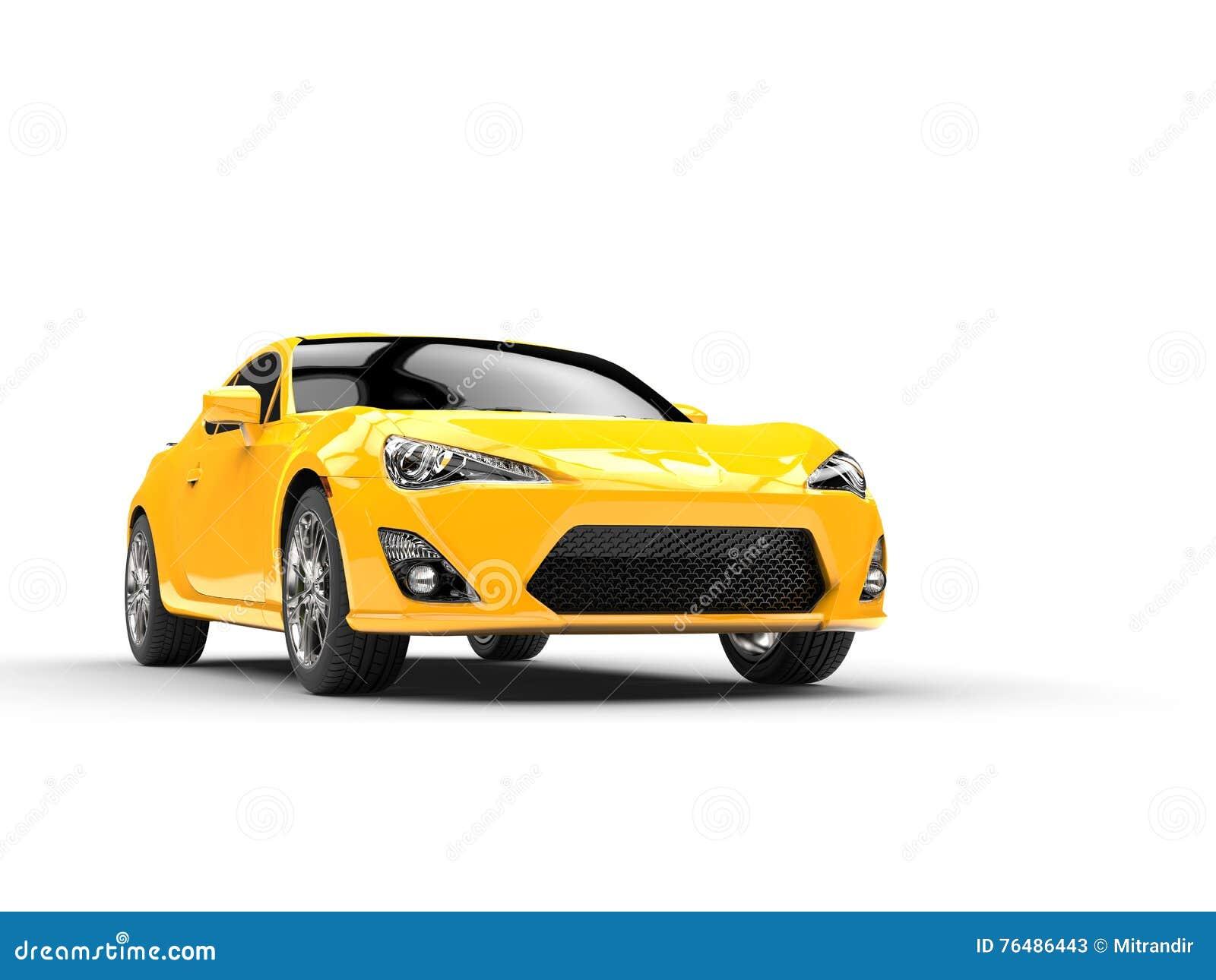 Le jaune générique folâtre le tir automobile de studio