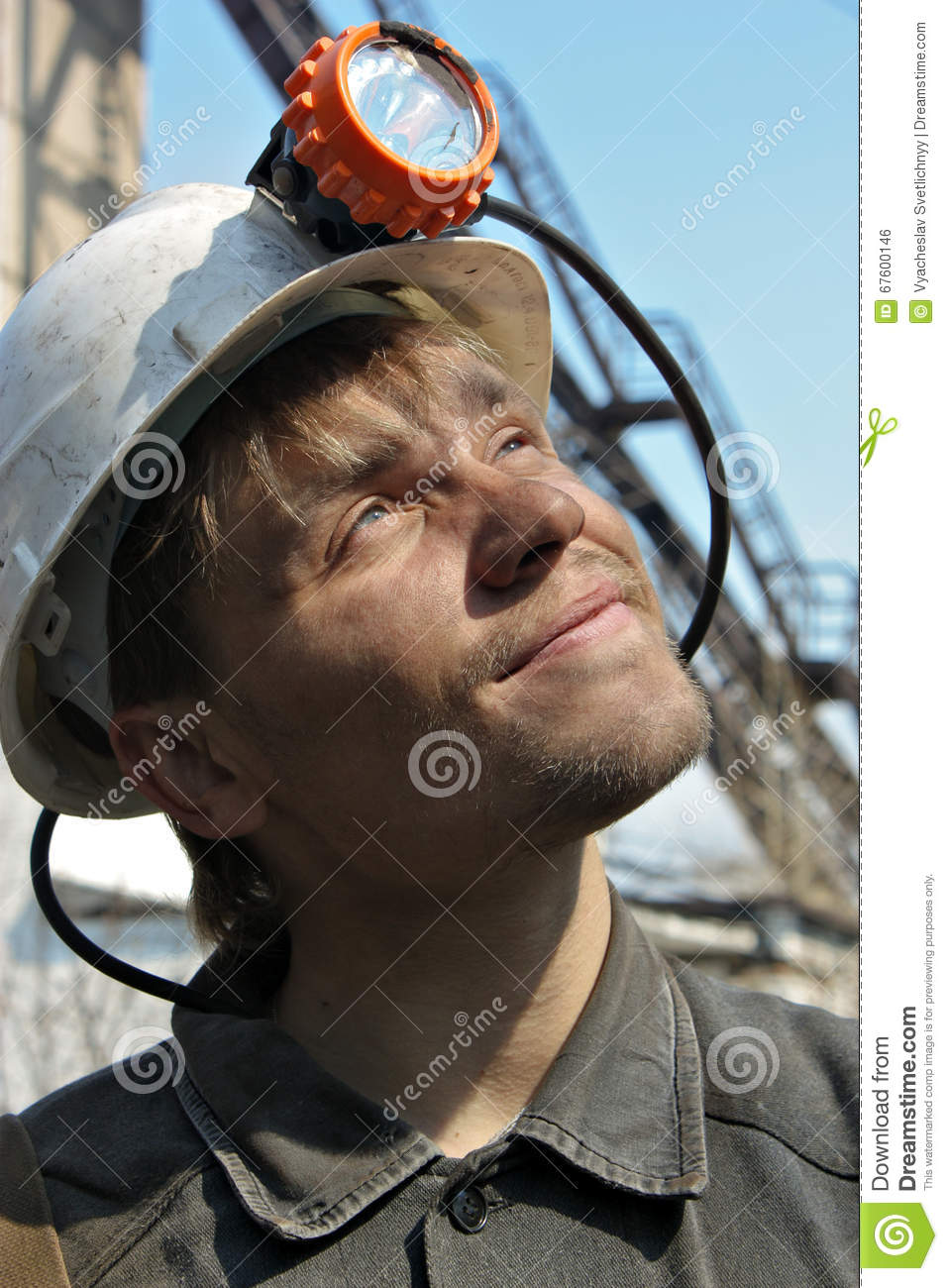 le jeune casque de mineur dans un blanc photo stock image 67600146. Black Bedroom Furniture Sets. Home Design Ideas