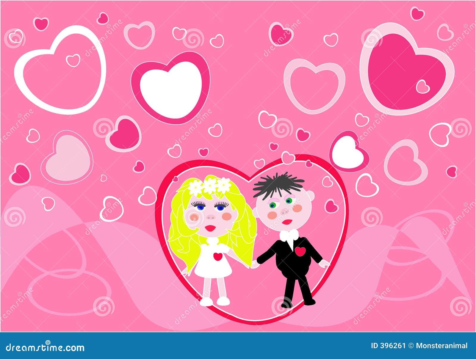 Le jeune couple obtient 1 marié