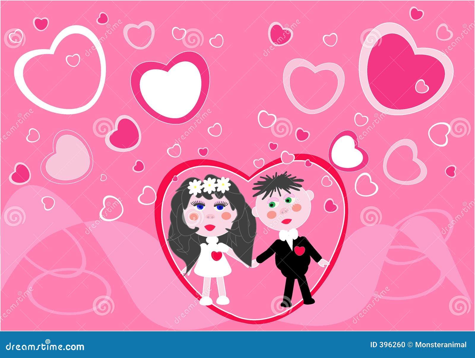 Le jeune couple obtient 2 mariés