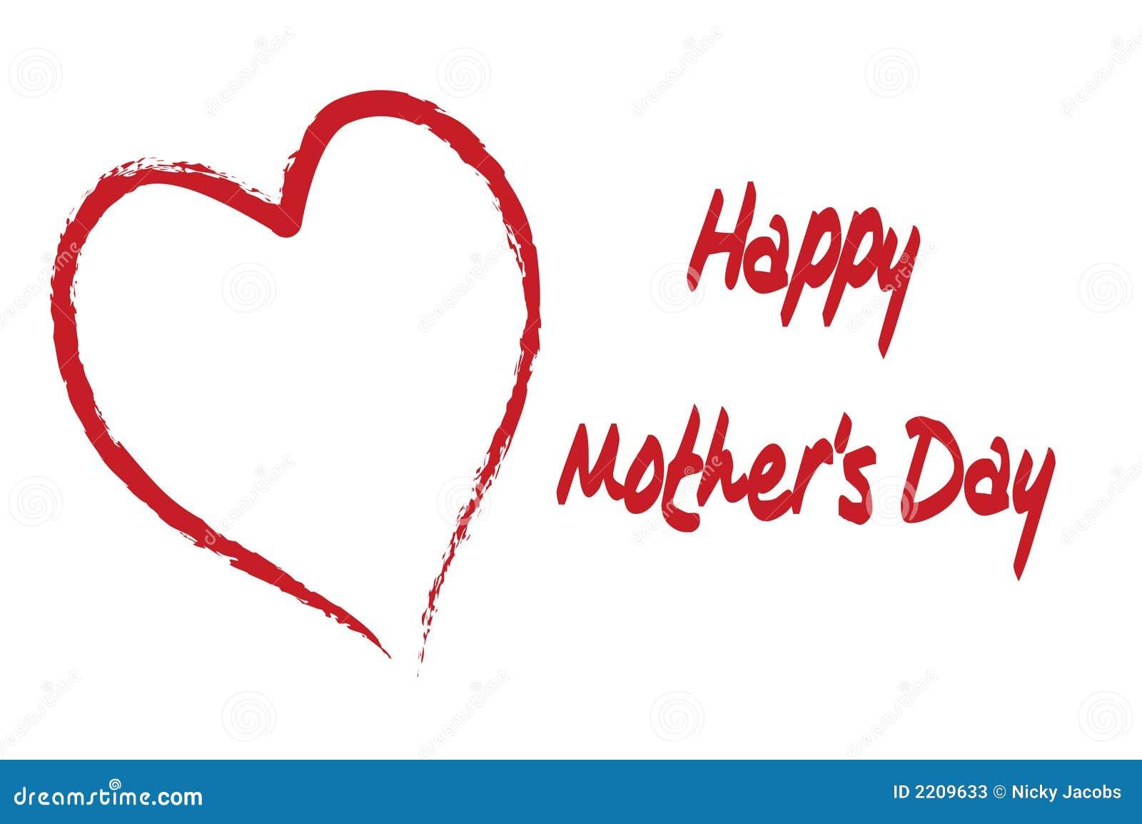 Le jour de mère heureux