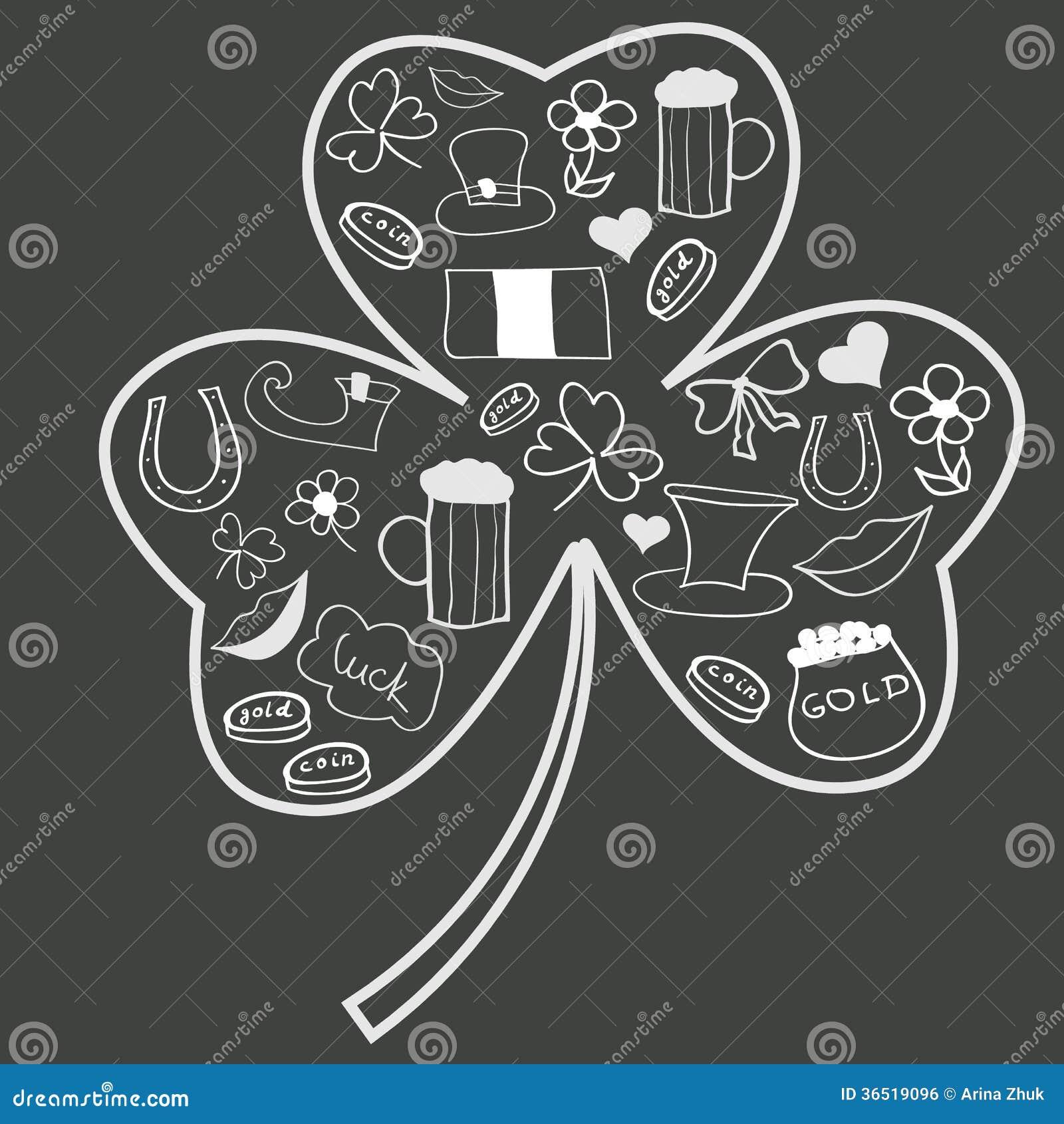Le jour de Patricks de saint gribouille dans la forme de l oxalide petite oseille