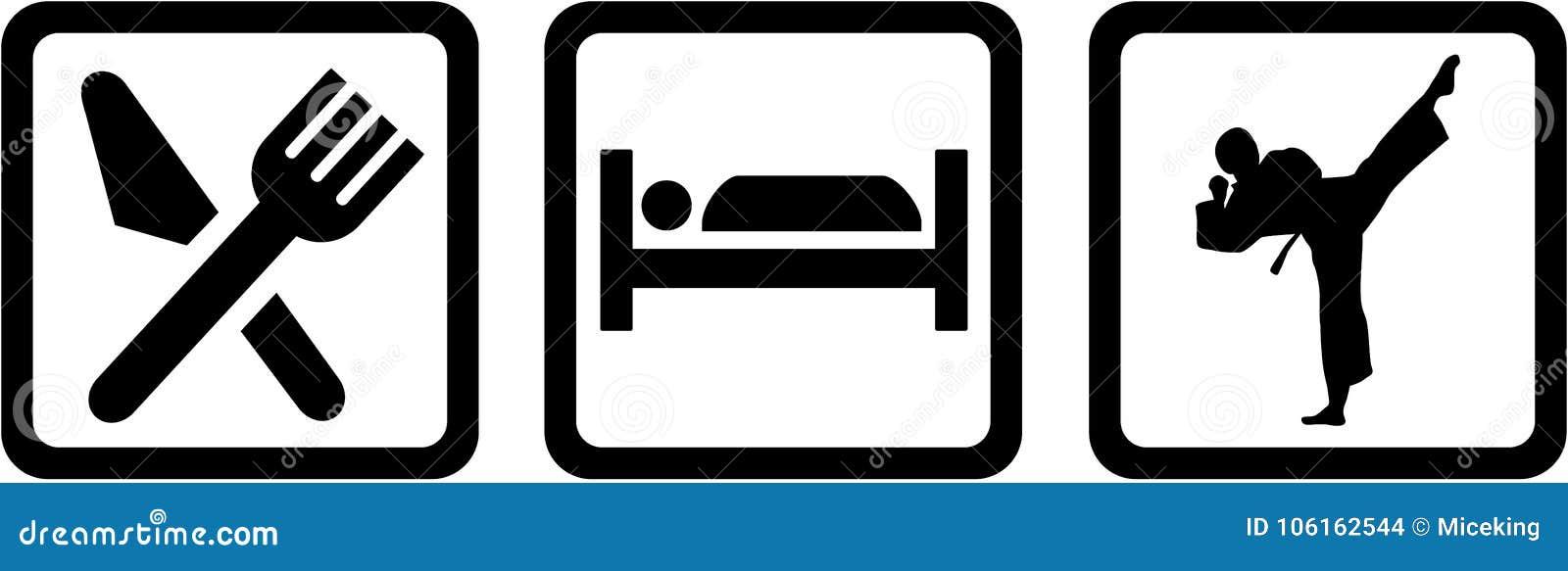Le karaté mangent le sommeil