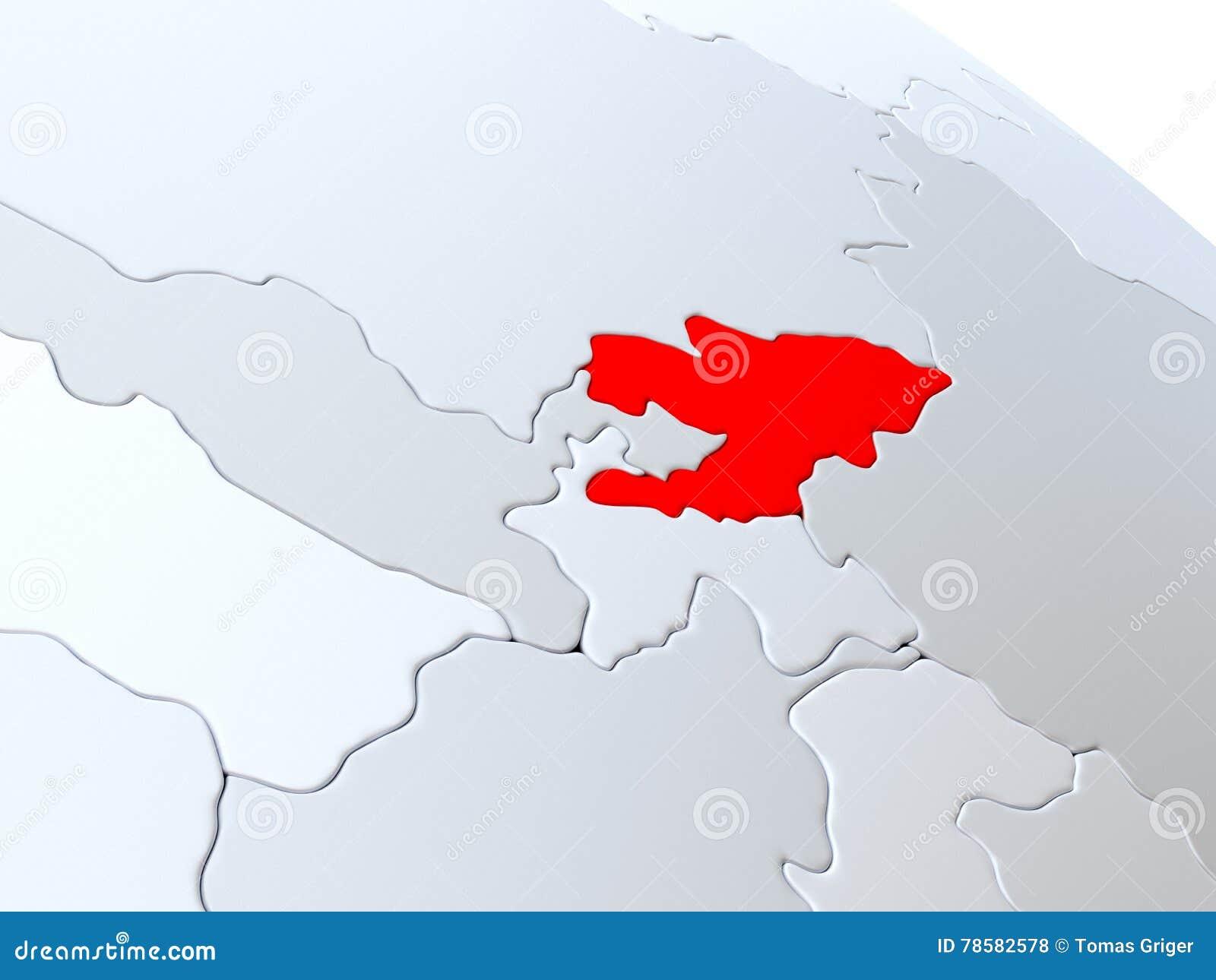 Carte Du Monde Kirghizistan.Le Kirghizistan Sur La Carte Du Monde Illustration Stock