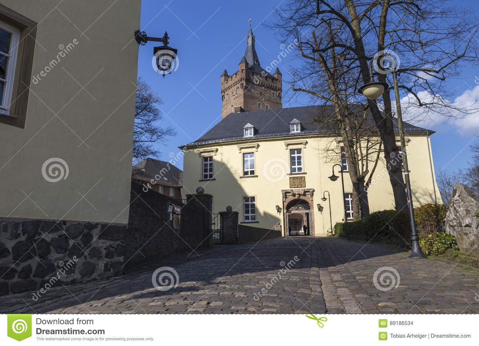 Le kleve Allemagne de château de schwanenburg