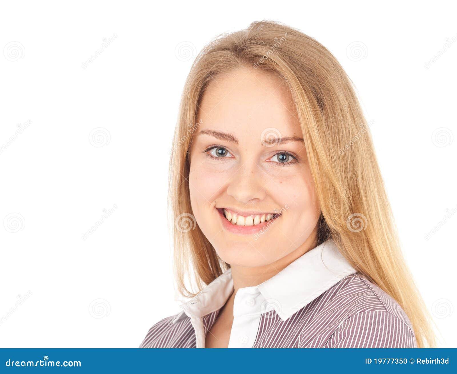 Le kvinna för attraktiv affär