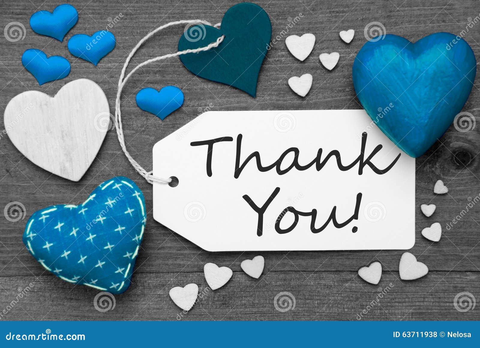 le label noir et blanc avec les coeurs bleus texte vous remercient photo stock image 63711938. Black Bedroom Furniture Sets. Home Design Ideas