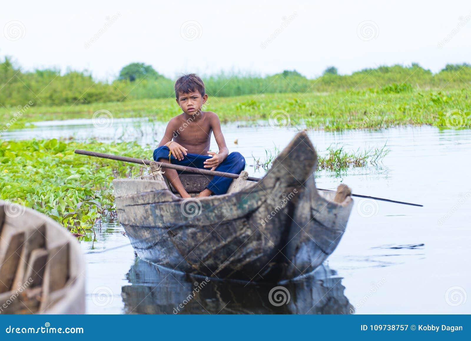 Le lac Cambodge de sève de Tonle