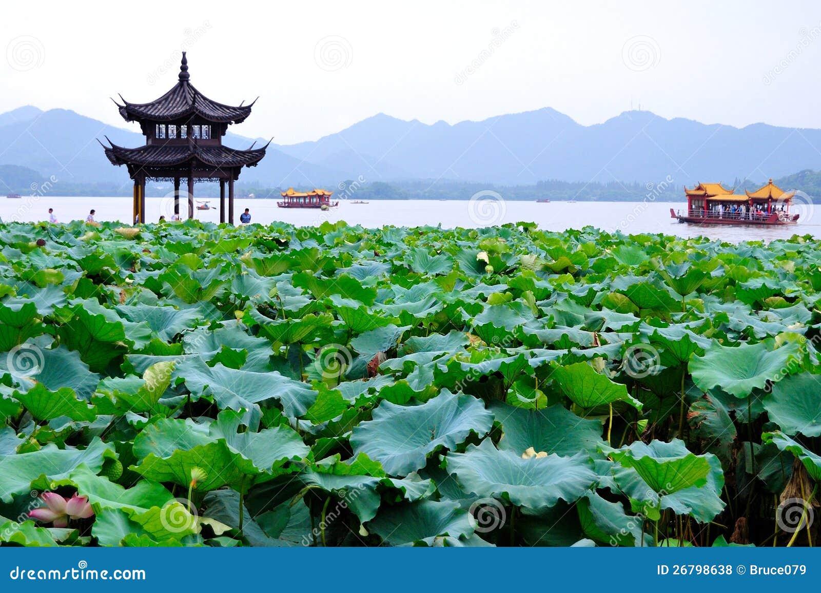 Le lac occidental (hangzhou, porcelaine)