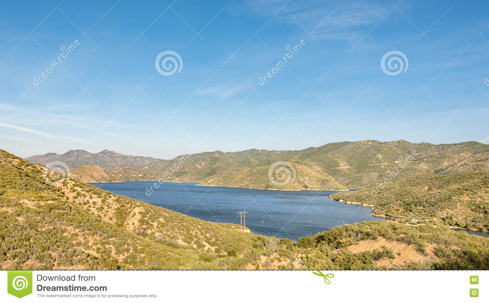 Le lac Silverwood donnent sur, jante du chemin détourné scénique du monde, CA