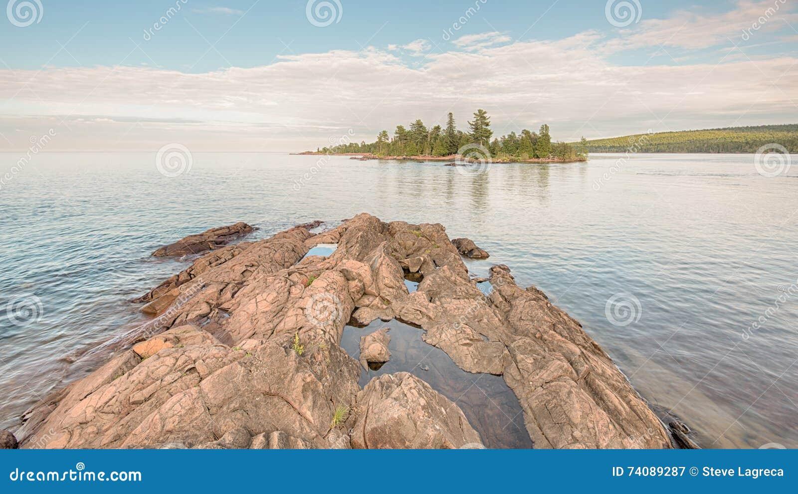 Le lac Supérieur, parc de point de chasseurs, MI