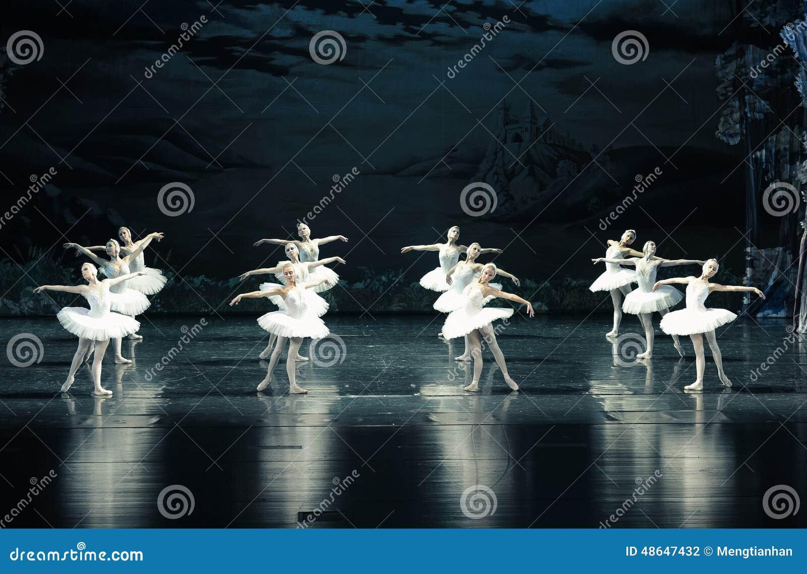 Le lac swan de Tribu-ballet de cygne