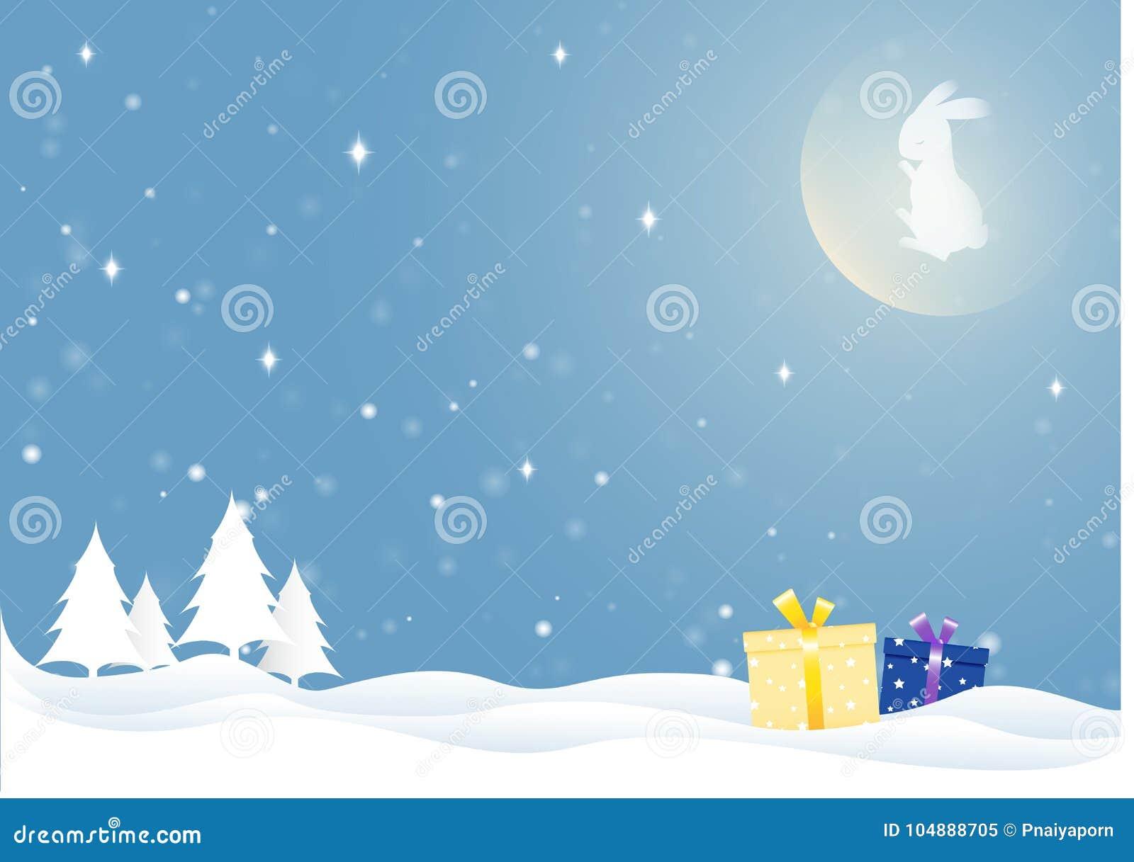 Le lapin de lune dans la saison d hiver