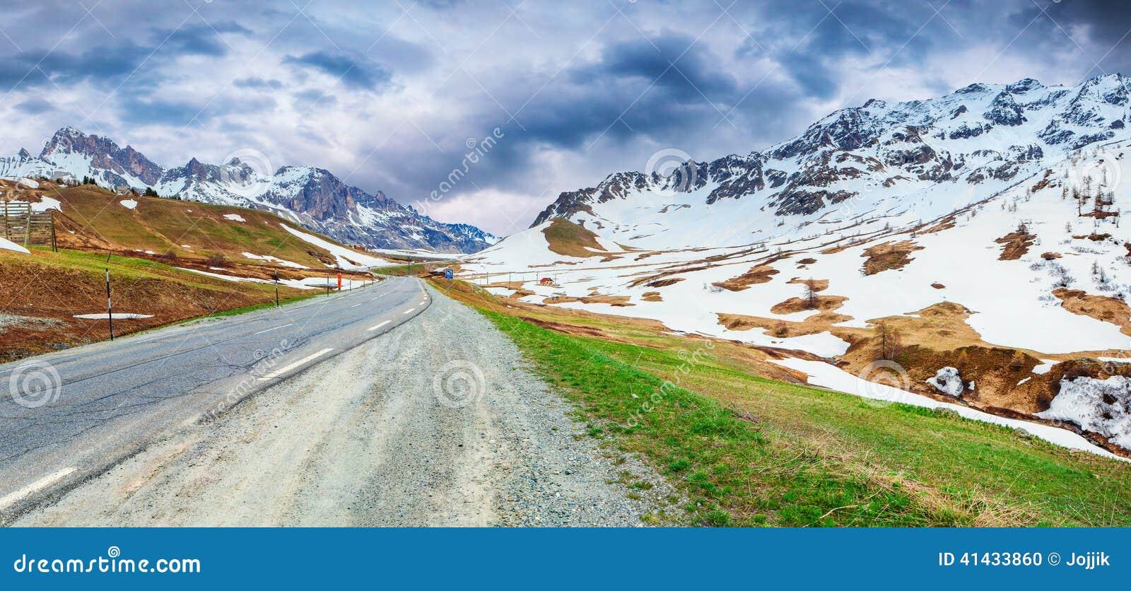 Le Lautaret Pass, Ecrins,法国的全景