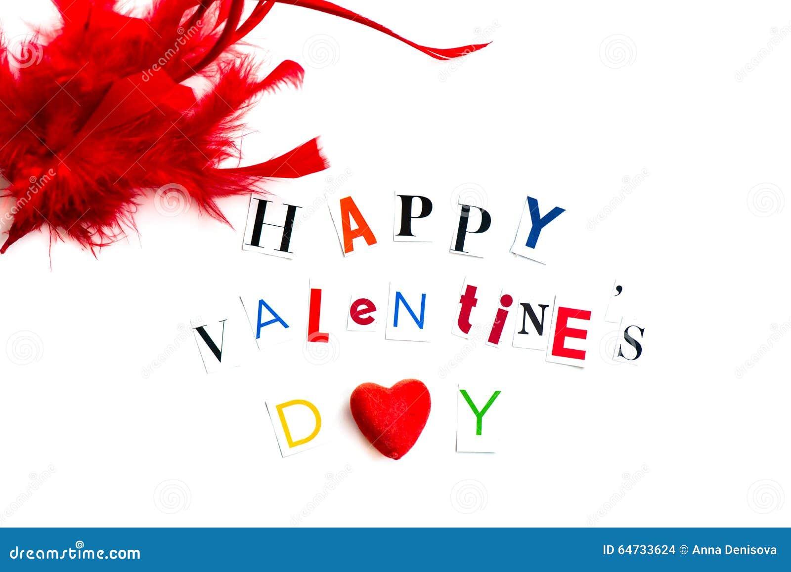 Le lettere di giorno felici dei biglietti di S. Valentino hanno tagliato dalle riviste
