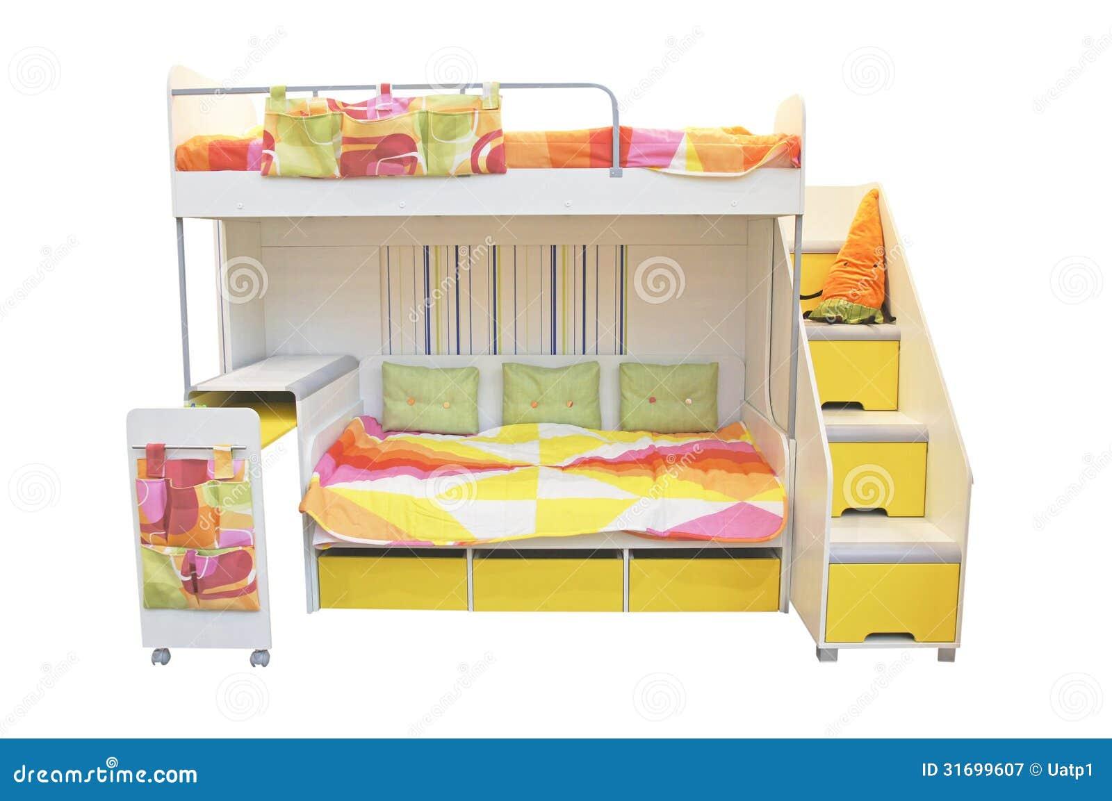 Le lit deux tages photographie stock libre de droits for Lit 3 etages