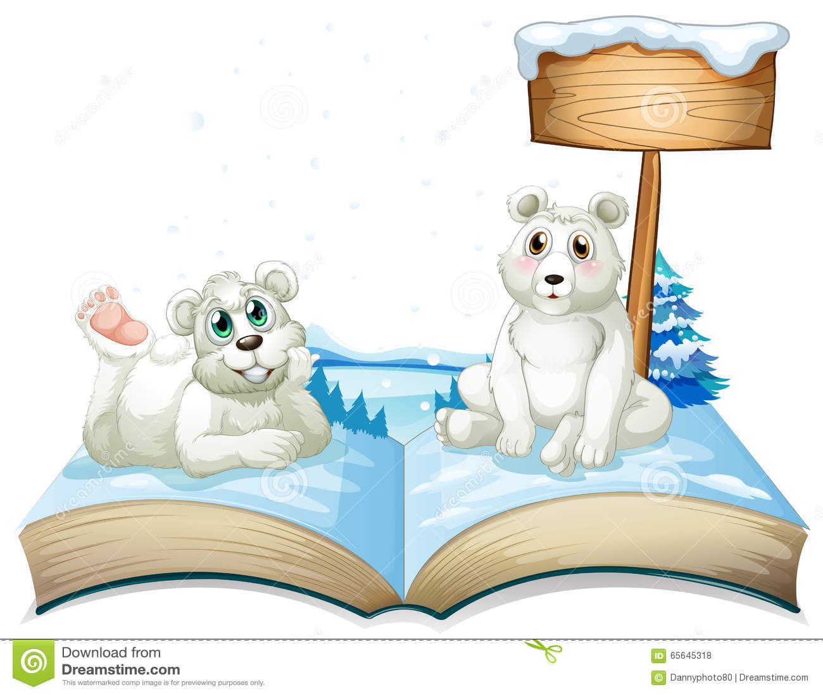 Le livre de deux polaires concerne la neige